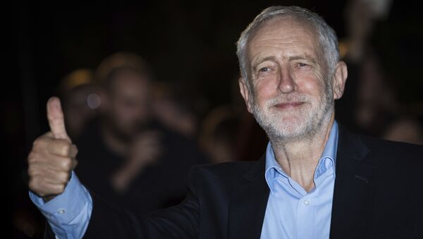 Jeremy Corbyn poses for photographers upon arrival at the GQ's Men of The Year awards, in London, Tuesday, Sept. 5, 2017. - Sputnik International