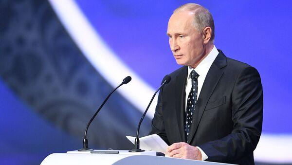 Russian President Vladimir Putin during 2018 FIFA World Cup Final Draw at the State Kremlin Palace - Sputnik International