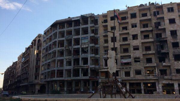 Destroyed buildings in Aleppo  - Sputnik International