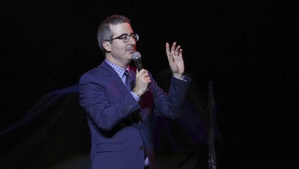 Comedian John Oliver performs on stage during the 11th Annual Stand Up for Heroes benefit, presented by the New York Comedy Festival and The Bob Woodruff Foundation, at the Theater at Madison Square Garden on Tuesday, Nov. 7, 2017, in New York - Sputnik International
