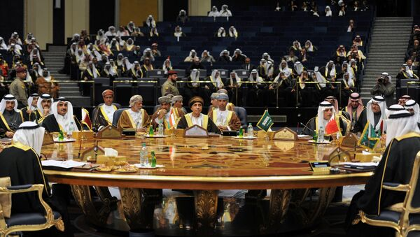 Leaders and representatives of Gulf Cooperation Council (GCC) attend a meeting during their annual summit in Kuwait City, Kuwait, December 5, 2017 - Sputnik International