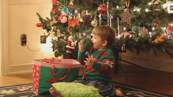 'Tis the Season: Toddler Delighted by Presents of Produce - Sputnik International