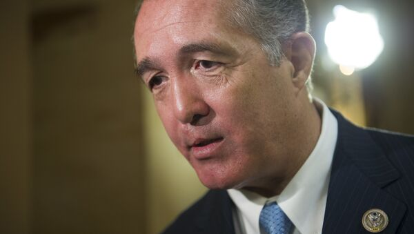 Rep. Trent Franks, R-Ariz. speaks with a reporter on Capitol Hill in Washington, Friday, March 24, 2017, as the House nears a vote on their health care overhaul. - Sputnik International