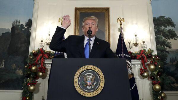 President Donald Trump speaks in the Diplomatic Reception Room of the White House, Wednesday, Dec. 6, 2017, in Washington - Sputnik International