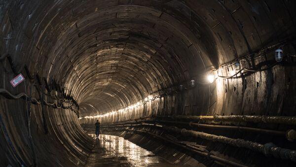 Construction of Khodynskoye Pole metro station - Sputnik International