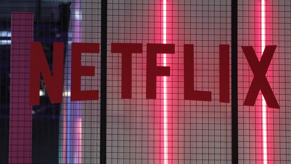 The logo of American entertainment company Netflix is pictured at the Paris games week in Paris, Saturday, Nov. 4, 2017. - Sputnik International