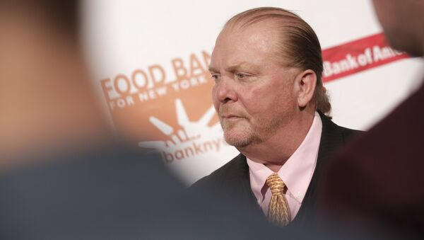 Chef Mario Batali attends the Food Bank for New York City Can-Do Awards at Cipriani Wall Street on Wednesday, April 19, 2017, in New York. - Sputnik International