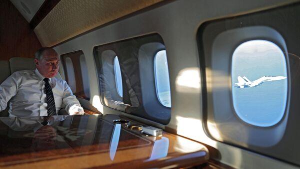 President Vladimir Putin visits Khmeimim Air Base in Syria - Sputnik International