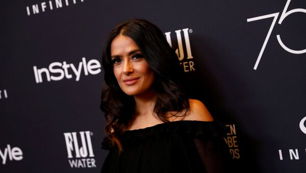 Actor Salma Hayek attends the Hollywood Foreign Press Association (HFPA) and InStyle celebration of the 75th Annual Golden Globe Awards season at Catch LA in West Hollywood, California, U.S. November 15, 2017 - Sputnik International