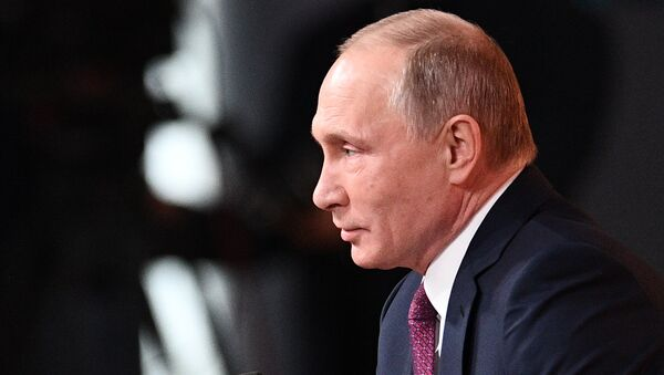 Vladimir Putin's annual news conference - Sputnik International