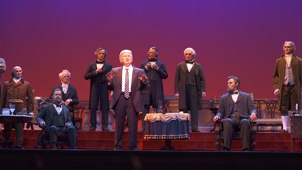 Disney unveils animatronic of President Donald Trump in its Hall of Presidents exhibit in Orlando, Florida - Sputnik International