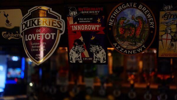 Patriotic ales on tap at Thetford pub The Black Horse. Sputnik © - Sputnik International