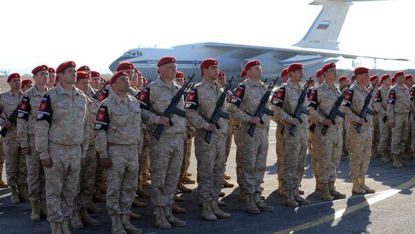 Russian army servicemen at the Khmeimim Air Base in Syria - Sputnik International