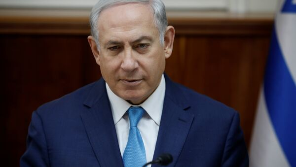 Israeli Prime Minister Benjamin Netanyahu attends the weekly cabinet meeting at the Prime Minister's office in Jerusalem December 24, 2017 - Sputnik International
