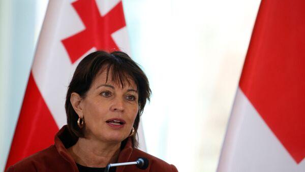 Switzerland's President Doris Leuthard speaks during a news conference in Tbilisi, Georgia, December 4, 2017 - Sputnik International