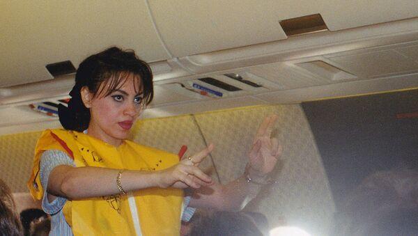 Egypt air Flyght attendant during flight - Sputnik International