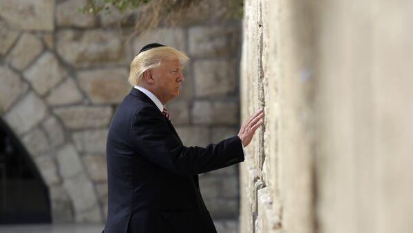 President Donald Trump visits the Western Wall, Monday, May 22, 2017, in Jerusalem - Sputnik International