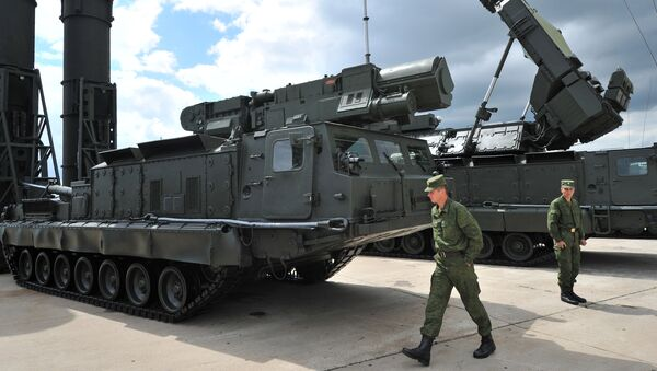 S-300V and S-300VM anti-aircraft long distance missile systems showcased at the 2nd International Forum 'Engineering Technologies 2012' in Zhukovsky outside Moscow. File photo - Sputnik International