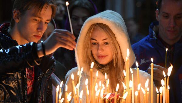 Merry Orthodox Christmas Celebrations in Russia - Sputnik International
