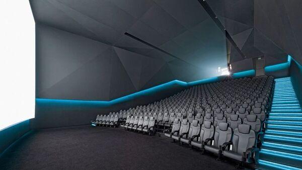 Interior Dolby Laboratories, Inc. screening theatre in San Francisco, California - Sputnik International