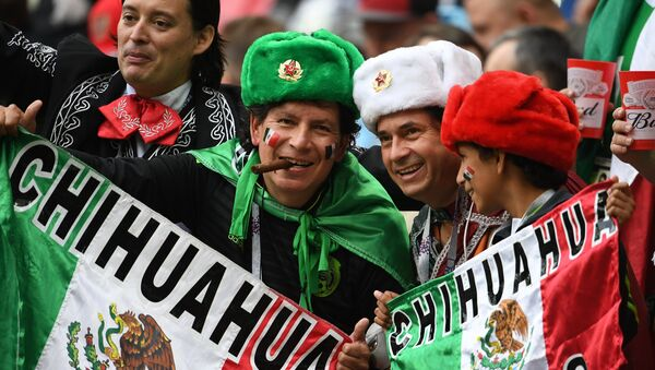 Mexican fans before the 2017 FIFA Confederations Cup match between Mexico and Russia - Sputnik International