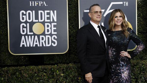 75th Golden Globe Awards – Arrivals – Beverly Hills, California, U.S., 07/01/2018 – Actors Tom Hanks and Rita Wilson - Sputnik International