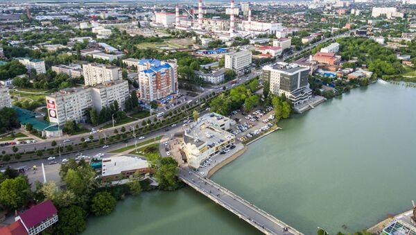 Solnechny Ostrov (Sunny Island) Park and Lake Staraya (Old) Kuban in Krasnodar. (File) - Sputnik International