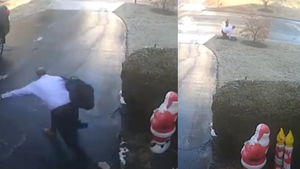 Caught Slippin'! Black Ice Gives Virginia Man an Early Morning Surprise - Sputnik International