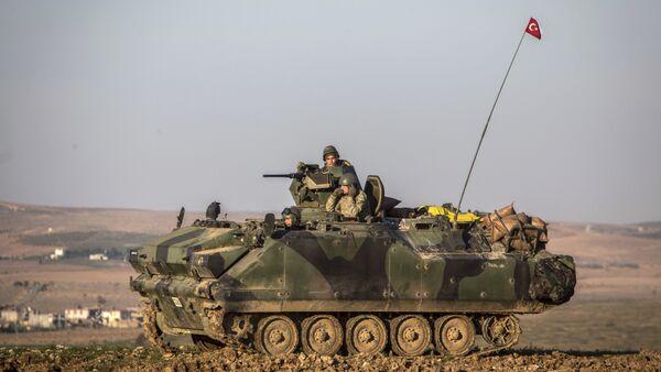 Turkish army tank stands in Esme village in Aleppo province, Syria. (File) - Sputnik International