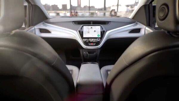 GM's planned Cruise AV driverless car features no steering wheel or pedals in a still image from video released January 12, 2018 - Sputnik International