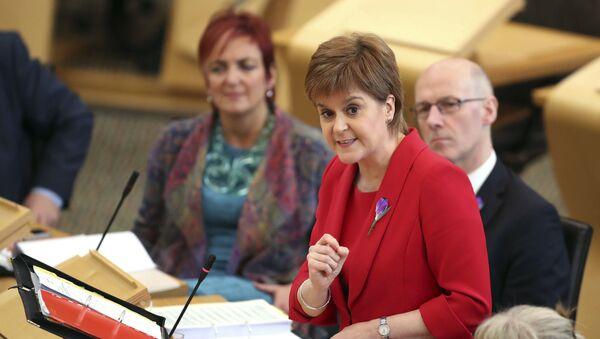 First Minister Nicola Sturgeon during First Minister's Questions at the Scottish Parliament in Edinburgh, Scotland, Thursday Oct. 26, 2017 - Sputnik International