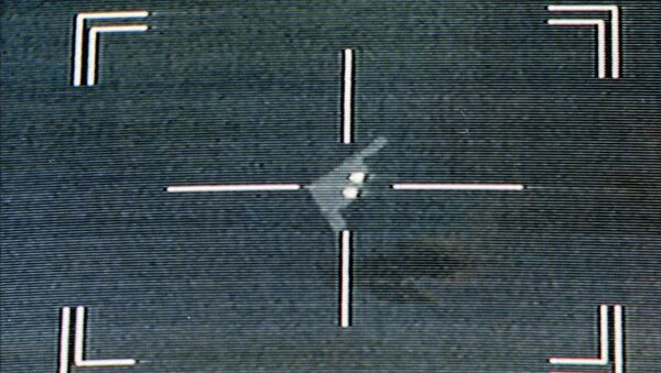 anti-aircraft missile system crosshairs are seen on a US Air Force B2 'Stealth' bomber - Sputnik International