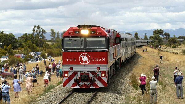 The Ghan, the first Australian passenger train to travel from Adelaide to Darwin - Sputnik International