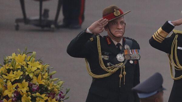 Indian Army Chief General Bipin Rawat - Sputnik International