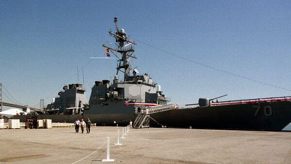The destroyer USS Hopper, named for the late Rear Admiral Grace Murray Hopper, docked at San Francisco - Sputnik International
