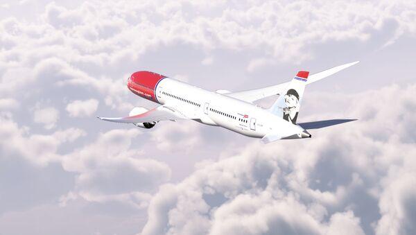 A Norwegian Air Shuttle Boeing 787-9 aircraft in flight - Sputnik International