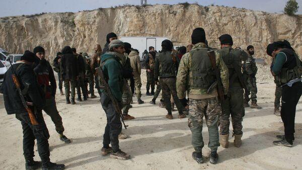 FSA fighters in Afrin, Syria - Sputnik International