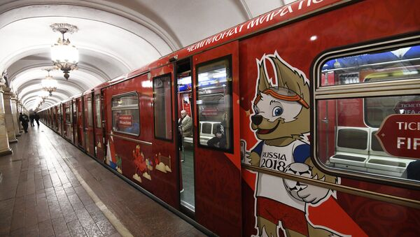 An official 2018 FIFA World Cup metro train dedicated to the World Cup history. File photo - Sputnik International