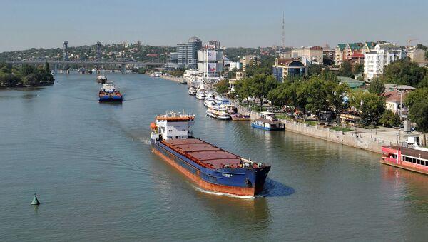 Sea and river vessels on the River Don, Rostov-on-Don. (File) - Sputnik International