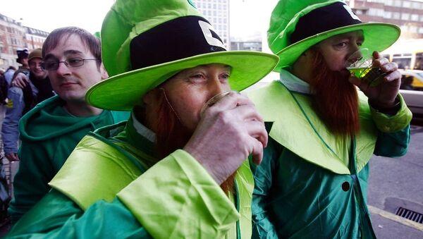 Fake beards on show in Copenhagen during St. Patrick's Day celebrations in 2007 - Sputnik International