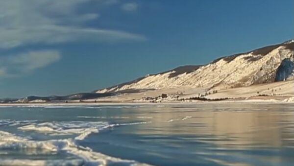 Ice-Skating at Lake Baikal - Sputnik International