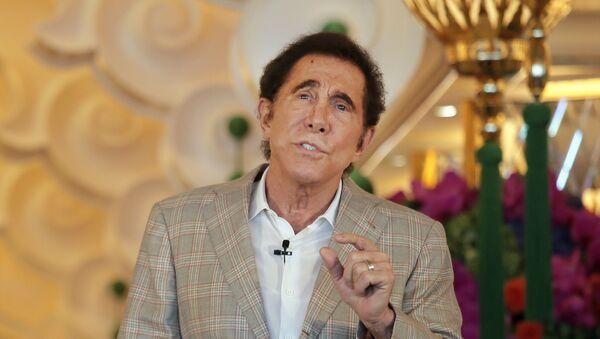 Steve Wynn, CEO of Wynn Palace speaks during a press conference in Macau, China, Wednesday, Aug. 17, 2016 - Sputnik International