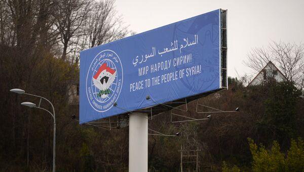 Preparations for Congress of Syrian National Dialog in Sochi - Sputnik International