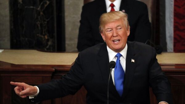 U.S. President Donald Trump delivers his State of the Union address to a joint session of the U.S. Congress on Capitol Hill in Washington, U.S. January 30, 2018 - Sputnik International
