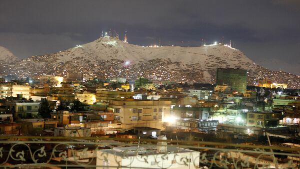 A general view of a neighborhood during the night in Kabul, Afghanistan, Sunday, Feb, 13, 2011 - Sputnik International