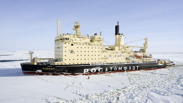 Nuclear-powered icebreaker Taymyr - Sputnik International