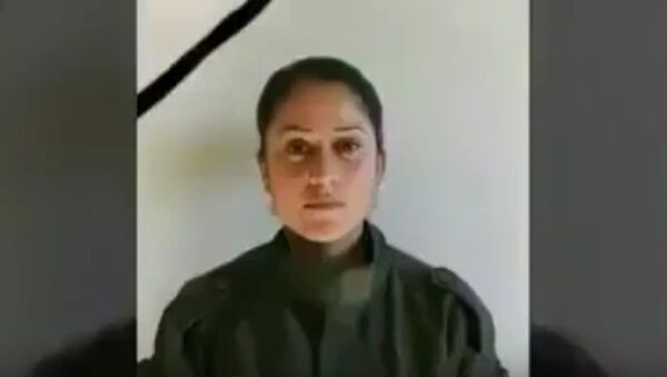 Kurdish YPG soldier Barin Kobani, formerly assigned to the Women's Protection Units. Video files of her badly-mutilated body were posted online. Turkish-backed militants invading Syria are accused of committing atrocities against foes on the Syria/Turkey border. - Sputnik International