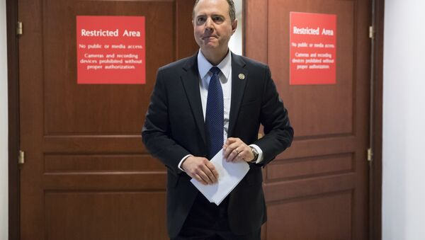Rep. Adam Schiff, D-Calif., ranking member of the House Permanent Select Committee on Intelligence, leaves a secure area where the panel meets as Democrats seek to push back against a classified memo released by Republicans last week questioning the methods used by the FBI to apply for a surveillance warrant on a onetime associate of the Trump campaign, at the Capitol in Washington, Monday, Feb. 5, 2018. - Sputnik International