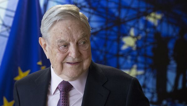George Soros, Founder and Chairman of the Open Society Foundation, waits for the start of a meeting at EU headquarters in Brussels on Thursday, April 27, 2017 - Sputnik International