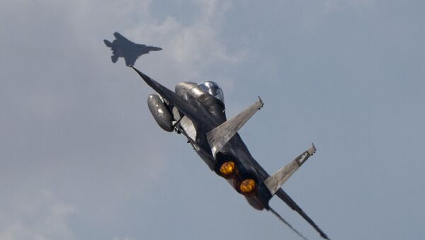 Two Israeli air force F-15s (File) - Sputnik International